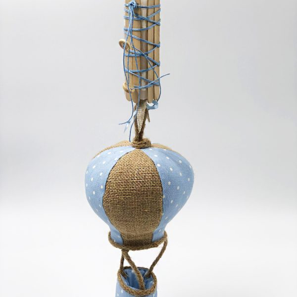 Λαμπάδα αερόστατο γαλάζιο-άμμου