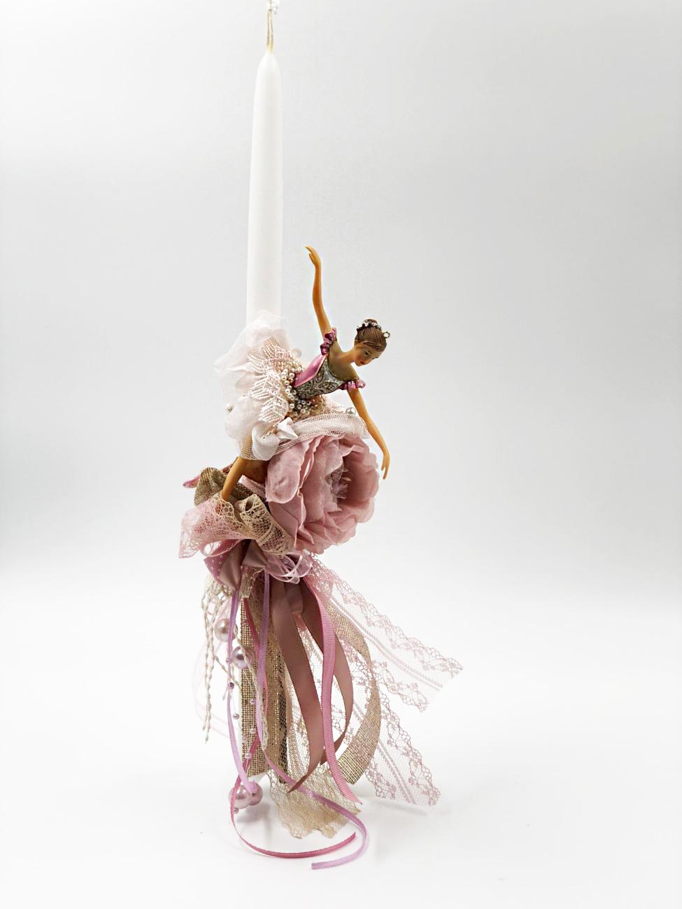 Λαμπάδα μπαλαρίνα στρογγυλό κερί