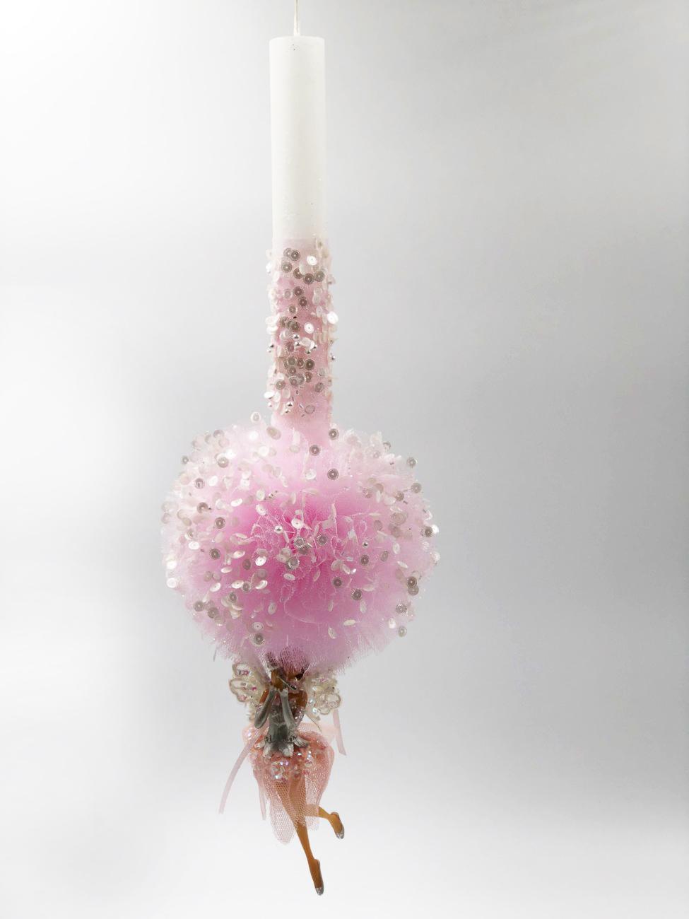 Λαμπάδα ροζ νεράιδα