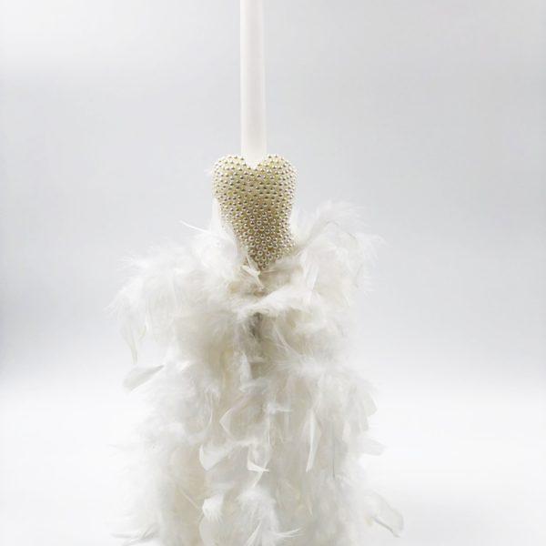 Λαμπάδα φόρεμα λευκό